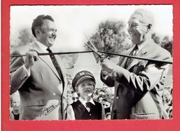 ERMENONVILLE 1963 MER DE SABLE INAUGURE PAR MAURICE CHEVALIER AVEC JEAN RICHARD CARTE EN TRES BON ETAT - Ermenonville