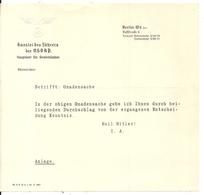 GUERRE 39/45 . LETTRE .KANZLEI DES FUHRERS DER NSDAP - Documenti