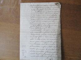 CAMBRAY LE 20 DECEMBRE 1758 PARDEVANT LES NOTAIRES ROYAUX SOUSSIGNES COMPARURENT MESSIRE JEAN-JACQUES DE POMEROL DEGRAMM - Manuscrits