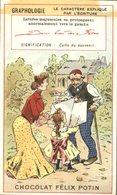 Image Chromo Magasins Chocolat Félix Potin Graphologie Le Caractère Expliqué Par L'écriture - Félix Potin