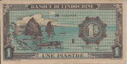 INDOCHINE   1  Piastre   Nd(1942)  -- Sup --   Indo-china - Indocina