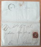 Portugal - COVER - 25 Reis D. Pedro V - Cancel: Monção + Viana Do Castelo (Vianna Do Castello) + 107 - 1855-1858 : D.Pedro V
