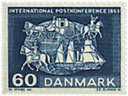Ref. 95955 * NEW *  - DENMARK . 1963. CENTENARY OF FIRST POSTAL INTERNATIONAL CONFERENCE. CENTENARIO DE LA PRIMERA CONFE - Danimarca
