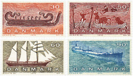 Ref. 96006 * NEW *  - DENMARK . 1970. DANISH SAILING OVER CENTURIES. LA NAVEGACION DANESA A TRAVES DE LOS SIGLOS - Danimarca