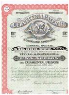 Titre Ancien - Cerveceria Palermo Sociedad Anónima - Titulo De 1926 - N°125118 - Industry