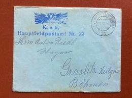 K.U.K. FELDPOSTAMT  22 - 29 III 16  - PICCOLA BUSTA - Guerre 1914-18