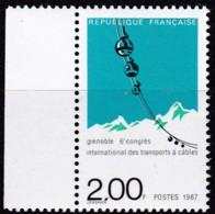 Frankreich, 1987, Mi.Nr. 2613, MNH **,  Seilbahnbau,  Construction De Téléphériques, - Unused Stamps
