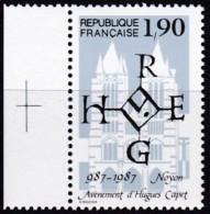Frankreich, 1987, Mi.Nr. 2614, MNH **,  L'accession Au Trône Du Roi Hugo Capet. - Unused Stamps