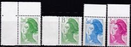 Frankreich, 1987, Mi.Nr. 2618/20+32, MNH **, - 1982-90 Liberty Of Gandon