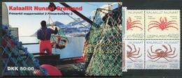 Grönland Mi# MH 3 Postfrisch MNH - Queen Margrethe + Fauna Crabbs - Carnets
