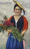 Belle Femme Nice Marchande De Fleurs Fleuriste - Marchands