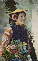 Belle Femme Nice Marchande De Fleurs Fleuriste Bouquetière - Marchands