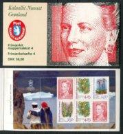 Grönland Mi# MH 4 Postfrisch MNH - Queen Margrethe + Flora - Carnets