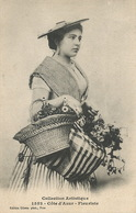 Belle Femme Cote Azur Marchande De Fleurs Fleuriste - Marchands