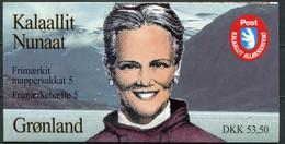 Grönland Mi# MH 5 Postfrisch MNH - Queen Margrethe + Fauna Butterfly - Postzegelboekjes