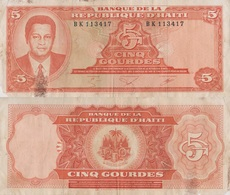 Haiti / 5 Gourdes / 1985 / P-241(a) / VF - Haiti