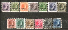 LUXEMBOURG Service G D Charlotte 1928 N° 174-186 - 1926-39 Charlotte De Profil à Droite