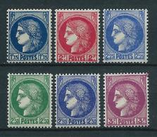 FRANCE 1938 . Série N°s  372 à 376  . Neufs ** (MNH) . - France
