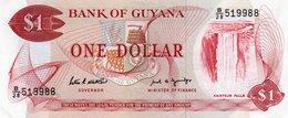 GUYANA 1 DOLLAR 1989  P-21f  UNC - Guyana