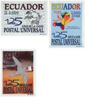 Ref. 51621 * NEW *  - ECUADOR . 1999. 125th ANNIVERSARY OF UPU. 125 ANIVERSARIO DE LA UPU - Ecuador