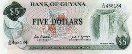 GUYANA 5 DOLLARS 1989  P-22e  UNC - Guyana