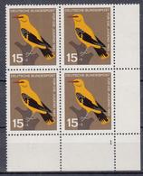 BUND - Michel - 1963 - Nr 402 (nr. Platte 1 /Viererblock) - MNH** - [7] République Fédérale