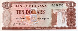 GUYANA 10 DOLLARS 1989  P-23d  UNC - Guyana