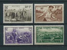 FRANCE 1940 . Série N°s 466 à 469  . Neufs ** (MNH) . - France