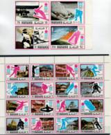 MANAMA   WINTER  OLYMLIC  GAMES  SAPPORO  JAPAN    2 SHEET WITH 20 STAMPS  MNH - Manama