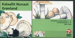 Grönland Mi# MH14 Postfrisch MNH - Flora Mushrooms - Carnets