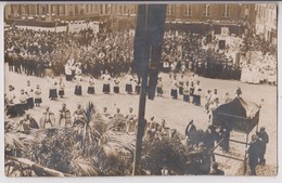 CARTE PHOTO : E. DEJONGHE 39 RUE THIERS BOULOGNE SUR MER - PROCESSION D'ECCLESIASTIQUES - FETE DIEU - 2 SCANS - - Boulogne Sur Mer