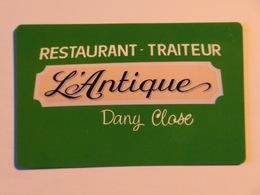 Carte De Visite Restaurant L'Antique Moha Wanze - Cartes De Visite