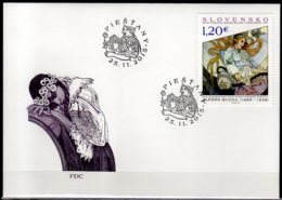 2015 Slovakia Alfons Mucha – Painting From Hotel Thermia Palace In Piestani FDC  MI 778 - Slowakische Republik