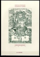 2010 / 2013 Slovakia 400th Anniversary Of The Zilina Synod- Numbered Black Print Of MI B 33 Stamp Exhibition - Slowakische Republik