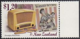 New Zealand 1999 MNH Sc 1582 $1.20 Household Radio, Woman's Weekly Magazine - Nouvelle-Zélande