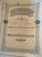 Banque Centrale De Bruxelles - Action De Capital De 100 Francs - Banque & Assurance