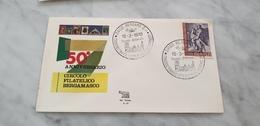 1970 Bergamo Esposizione Filatelica E Numismatica Raduno Filatelico Mostra Expo Annullo - Churches & Cathedrals