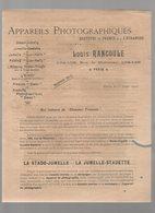 (Photo) Paris Appareils Photographiques LOUIS RANCOULE 1902 (PPP11743) - Advertising