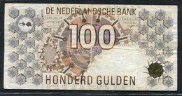 :Netherlands  -  100 Gulden 1992 'Steenuil' (grote ©) NR : 102 - Bruin - [2] 1815-… : Kingdom Of The Netherlands
