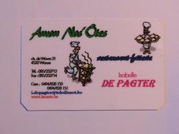 Carte De Visite Restaurant Amon Nos'Ôtes Wanze - Cartes De Visite