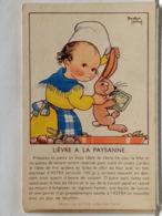 ILLUSTRATION BEATRICE MALLET - PUBLICITE ASTRA - RECETTE - LIEVRE A LA PAYSANNE - Mallet, B.