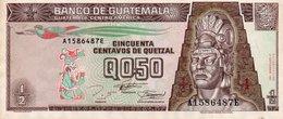 GUATEMALA 1/2 QUETZAL 1994 P-86b UNC - Guatemala