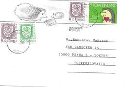 Entier Postal Voyage Vers Tchecoslovaquie 1990 - Finnland