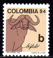 1980 Colombie Faune Alphabet B Buffle Buffalo - Colombia