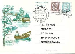 """Entier Postal """" Expo. Phila. De Praha """" 1988 - Finland"""