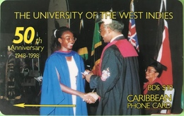 BARBADES  -  Prepaid  - Cable § Wireless -  The University Of The West Indies  -  BD $ 10 - Barbados
