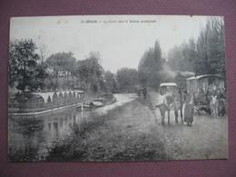 CPA 71 SAINT BERAIN SUR DHEUNE Canal Avec BATEAU PROTESTANT & ROULOTTE BOHEMIENS GITANS RARE ! Batellerie  Canton CHAGNY - France