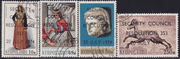 Cyprus 1974 SG #431-34 Compl.set Used UN Security Council Resolution - Cyprus (Republic)