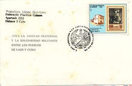 Cuba Card With Special Postmark 1985 - Cartas