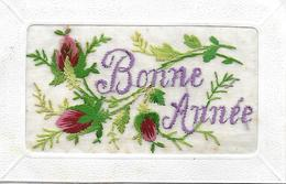 NOUVEL AN - BONNE ANNEE 1921 - CARTE BRODEE EN TRES BON ETAT - Neujahr